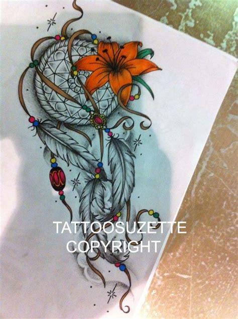 dream catcher tattoo with flowers dream catcher tattoo design by tattoosuzette deviantart