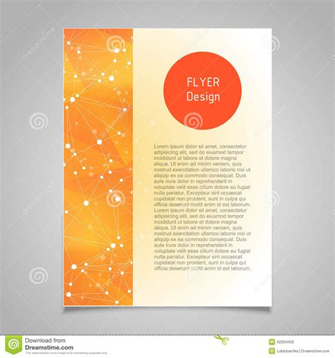 Page Layout Design Vector | brochure page vector design template with abstract