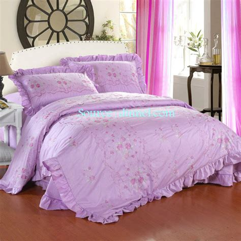 elegant bedding sets elegant light purple tone 4 piece embroidered cotton king