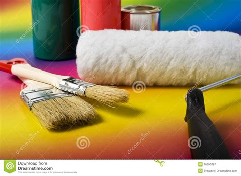 painting tools and colors royalty free stock photography image 10600787