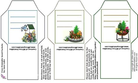 printable seed packet template seed packets seeds and garden seeds on