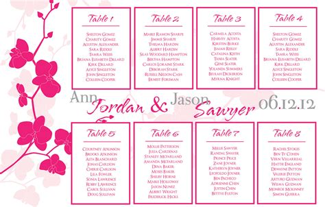 wedding seating chart template round tables template resume