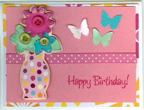 Birthday Card Photos Marilyn S Crafts Flower Vase Birthday Card