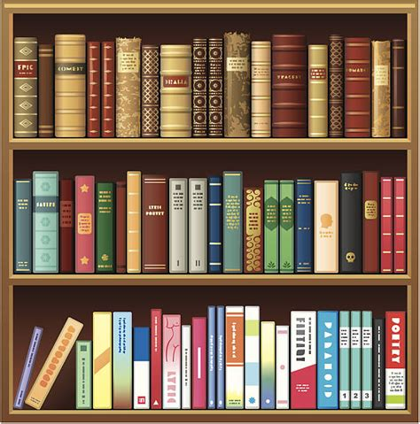 Book Shelf Clip by Bookshelf Clip Vector Images Illustrations Istock