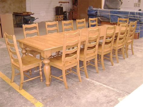 hand made pine dining table and ladder back chairs by
