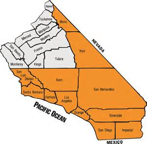 southern california county map images