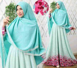 Syari Mozza Hanggono Tosca Green baju gamis syar i modern b039 versace busana muslim cantik