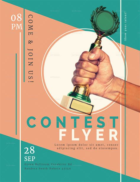Prize Contest Flyer Design Template In Psd Word Publisher Illustrator Indesign Contest Template