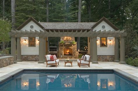 Modern Pool House Design Ideas With Nice Patio Howiezine