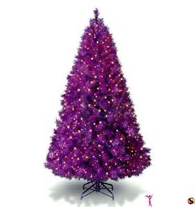 purple christmas tree photo picture 9027