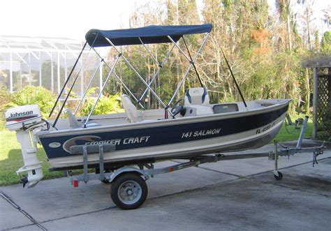 tracker bass boat bimini top 1998 smoker craft 141 salmon 14 2 bass boat used
