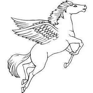 coloring pages of flying horses flying pegasus coloring page polyvore coloring pages