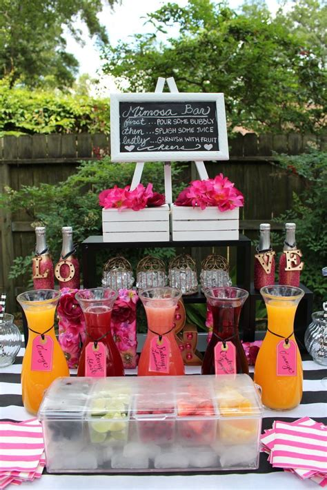 wedding bridal baby shower ideas on pinterest bumble kate spade theme mimosa bar weddings bridal showers
