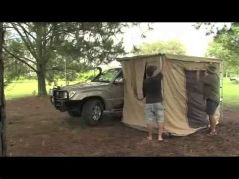 powerful 4x4 awning tent mp4