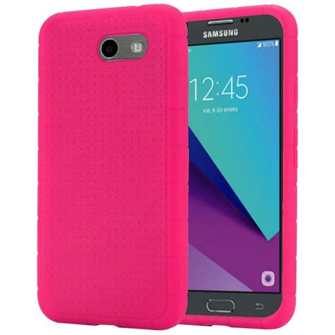 Softcase Anticrack Samsung Galaxy J3 2015 Soft Casing Cover Clear for samsung galaxy j3 j327p emerge rugged thick silicone grip soft cover ebay