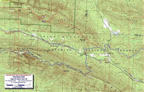 ouachita national forest map 17 best images about ouachita trail on hiking
