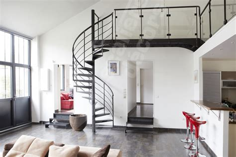 Deco Palier Moderne by Loft Spiral Staircase Escalier Moderne Escalier