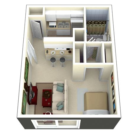 micro house designs tiny house floor plans and 3d home plan under 300 square