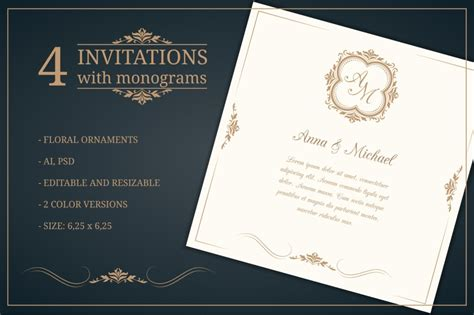 wedding invitation card template 10 psd ai and vector