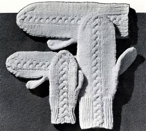 knitting patterns for mittens on four needles knitting pattern four needle mittens 1000 free patterns