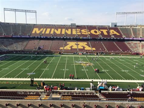 bank sections tcf bank stadium section 241 rateyourseats com