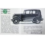 Triumph  Super 7 &amp 8 1927 1934