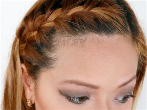 french braid bangs step by stoe how to french braid your bangs to the side 10 steps