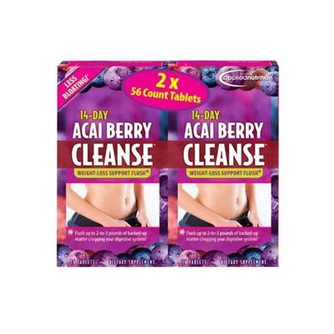 Acai Berry Detox And Colon Cleanse Reviews by Acai Berry 14 Day Cleanse Tablets 112 Count 34 99