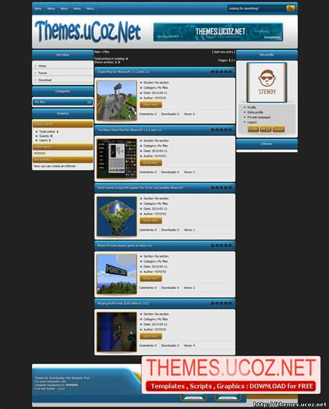 templates for ucoz games templates themes ucoz net templates and