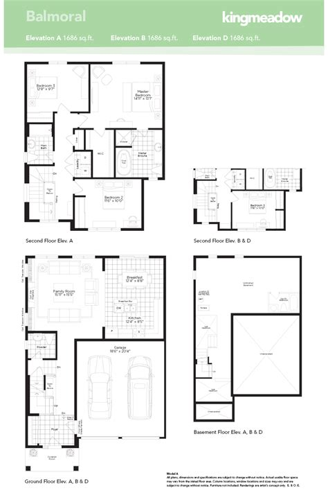 new home designs floor plans the balmoral at kingmeadow in oshawa by the minto