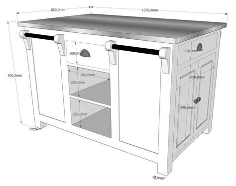 hauteur cuisine hauteur ilot central cuisine d 233 coration unique taille ilot