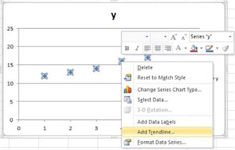 membuat grafik scatter di excel microsoft excel gt gt cara membuat persamaan garis linear