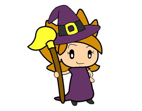 imagenes de brujas faciles para dibujar dibujo de la brujita pintado por toty2262 en dibujos net