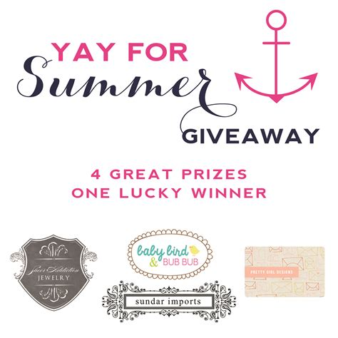 Giveaway Graphic - yay for summer giveaway one happy mama
