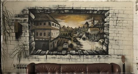 3d murals bihac city in 3d wall mural by anikowski on deviantart