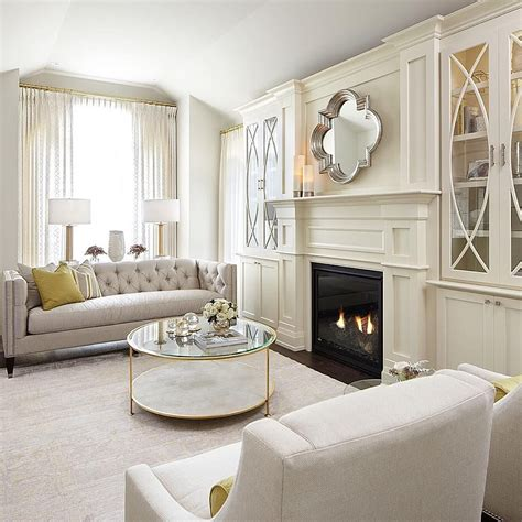 miroir design salon 971 gorgeous built in cabinets flanking the fireplace home