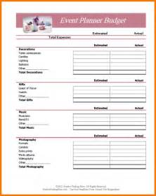 event expense report template 5 budget planner worksheet expense report