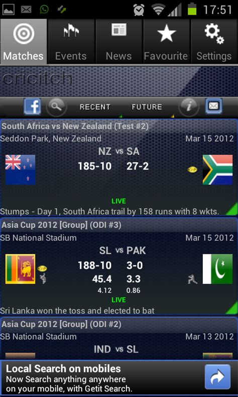 live cricket scores cricket scorecard and match predictions best android apps for ipl 5 2012 with live scorecard