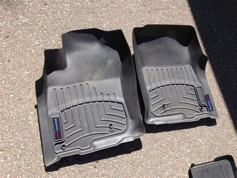 fs 5th gen weathertech floormat set black used 150