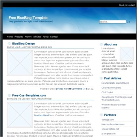 blue blog template free website templates in css html js
