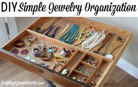 how to organize jewelry with a vintage drawer
