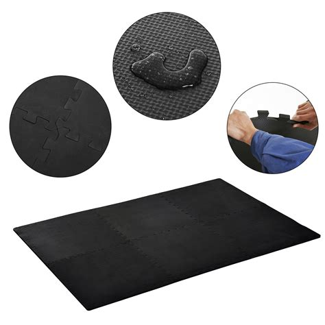 Square Exercise Mat by Homcom Soft Interlocking Floor Mats 216 Square Waterproof Exercise Workout Mat Kid Play Mat