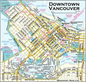 columbia maps downtown vancouver map vancouver