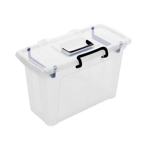 plastic file box buy 21 litre smart storemaster plastic file box with lid plastic box shop