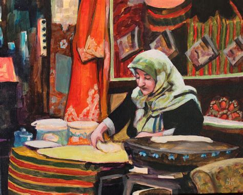 Turkish L by Mw Artco Painting Turkish Cooking