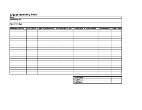 Free Liquor Inventory Spreadsheet Excel Natural Buff Dog Beverage Inventory Template