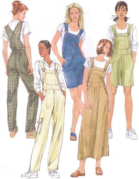 pattern for jumper shorts 90s mccalls sewing pattern 2244 womens overalls and jumper
