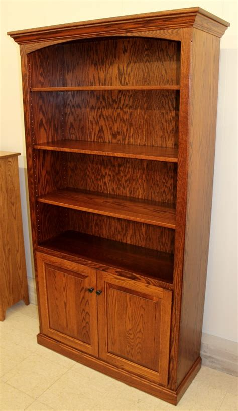 Wide Bookshelf With Doors 6 1 2 Deluxe Traditional Bookcase With Doors 43 1 2