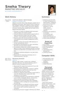 Communications Assistant Sle Resume by Administration Resume Sles Visualcv Resume Sles Database
