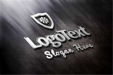 logo mockup psd template metal logo mockup template psd